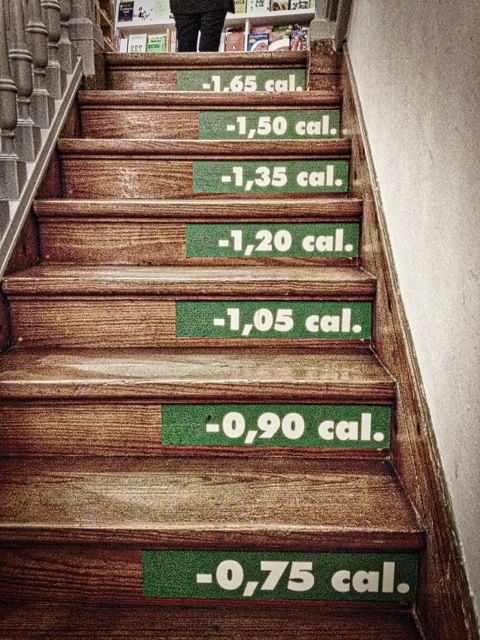 Calorie Labels To Be Fitted To Staircases Sticky Labels Blog