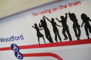 no-raving-on-train-sticker