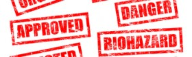 Rubber stamps in grunge style for office, work, sites