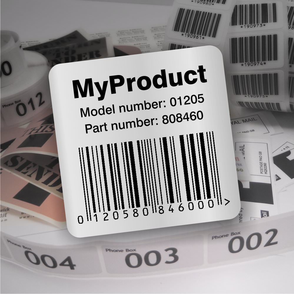 We have been printing barcoded labels since they first became popular we have supplied many customers with either labels barcoded for their product or