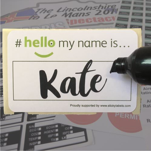 #Hello My Name Is Labels