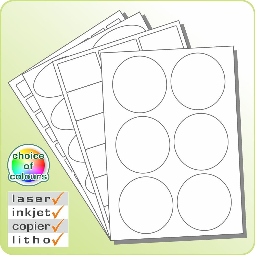 Circular, Oval and Square Laser and Inkjet Labels
